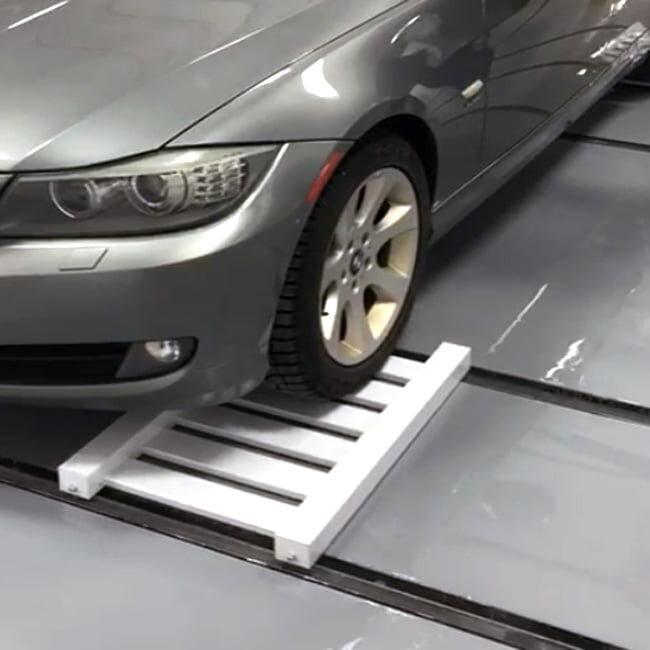 Car Mover System. Cart und Schienen in stabilem Leichtbau. Querverschub spielend einfach.