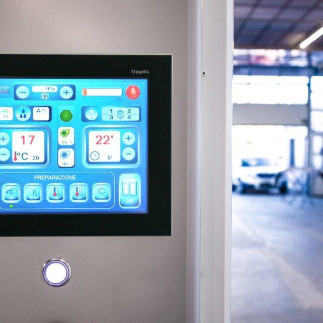Blowtherm Pannello di Controllo Touchscreen per zone di preparazione e cabine di verniciatura