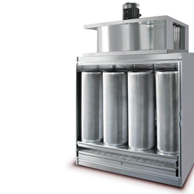 Depuratore d'aria robusto e durevole. Di facile manutenzione.