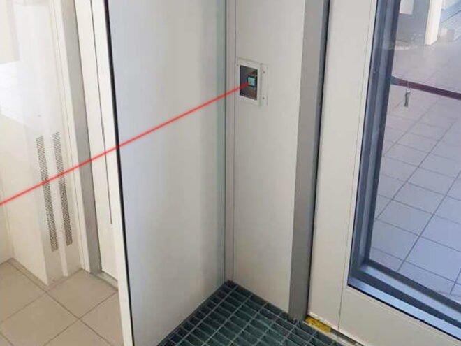 Controllo ventilazione laser cabina verniciatura