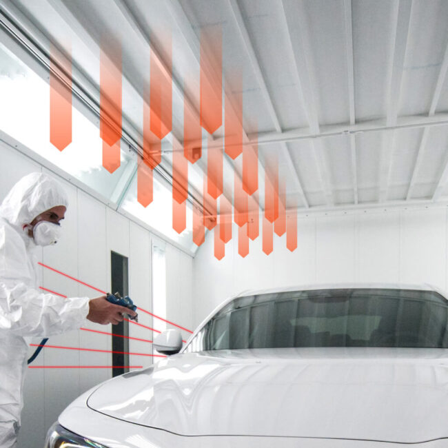 Ventilazione a zone. Controllo Laser. Riduzione consumo energia.