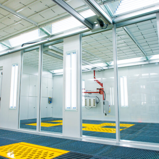 Blowtherm High Tech Preparation-Bays with natural LED Lighting and IR_UV Paint Cure Systems