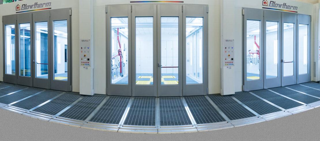 Impianto composto da 3 cabine Extra per finiture di alta qualità