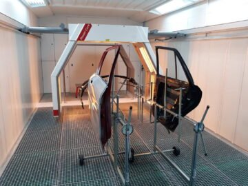 Arco infrarosso integrato in cabina di verniciatura Blowtherm