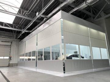 Zone di preparazione verniciatura per auto, furgoni, van