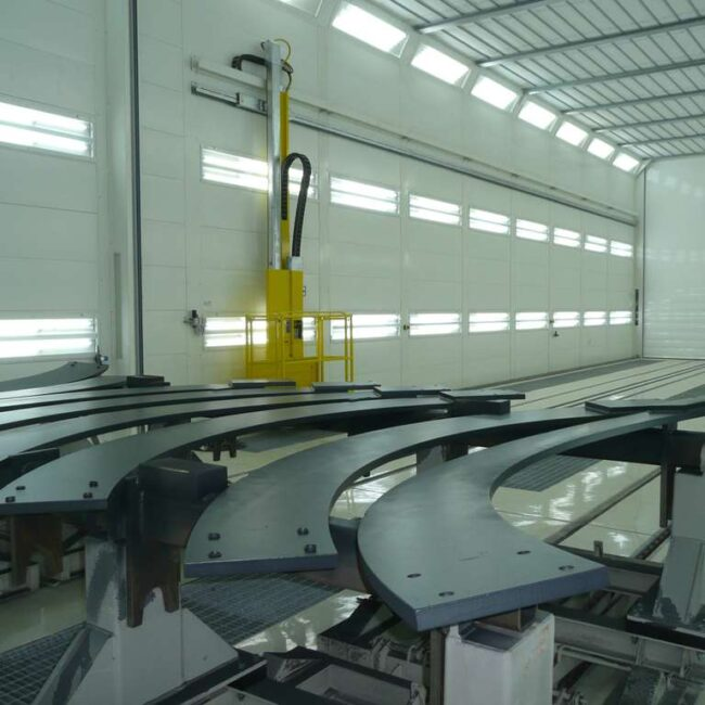Piattaforme aeree per cabina di verniciatura industriale