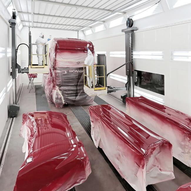 Paint lift cabina verniciatura camion