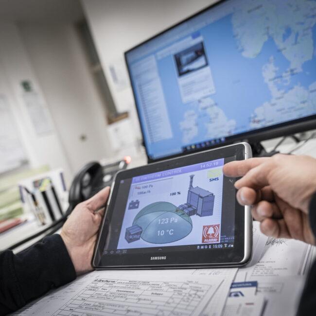 PLC per gestione remota impianto riscaldamento sport