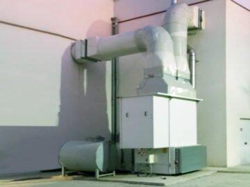 Generatore aria calda per palazzetto sport