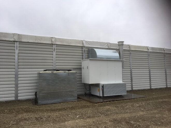 Riscaldamento ventilazione tensostruttura
