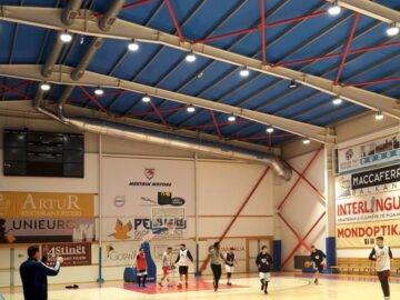 Riscaldamento e ventilazione palazzetto basket