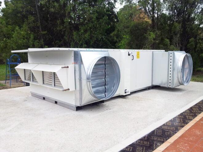Unità ventilazione acqua termale