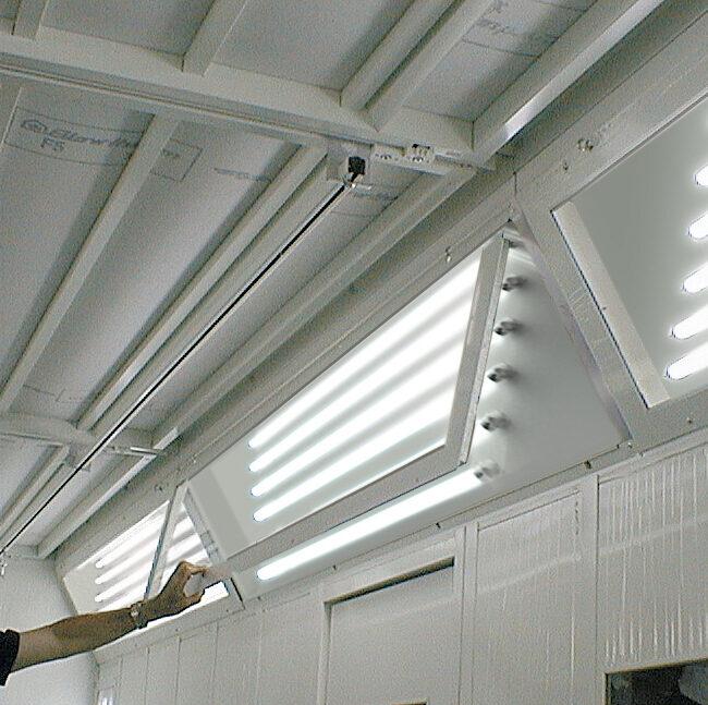 Illuminzione LED per cabine di verniciatura