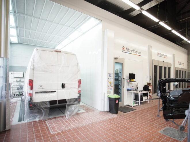 Zona di preparazione per van e furgoni