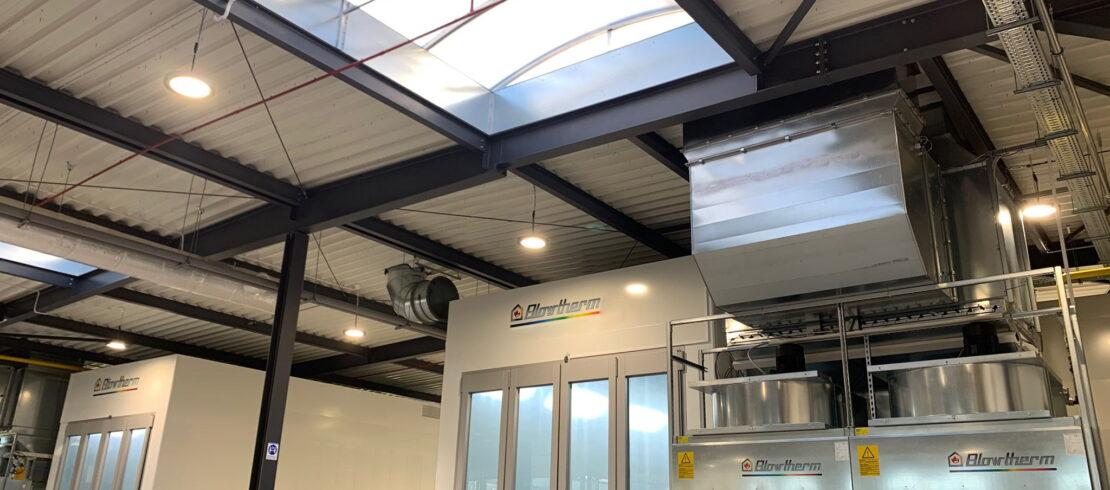 Impianto di verniciatura per fibra di carbonio - Blowtherm