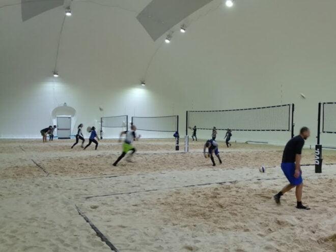 Riscaldamento pressostruttura beach volley