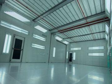 cabina verniciatura industriale